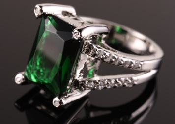 Diamond Emerald Cut Ring