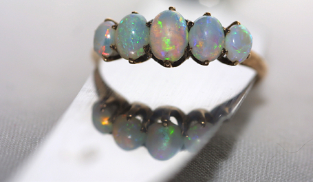 Opal Engagement Band