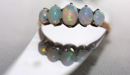 Opal Engagement Band