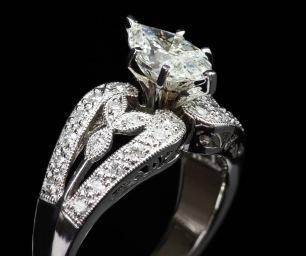Pear Diamond Ring