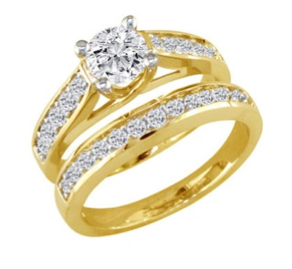 yellow gold engagement rings - Gold Wedding Rings For Women
